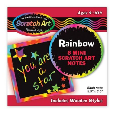 Rainbow Mini Scratch Art Notes by Melissa & Doug 5931