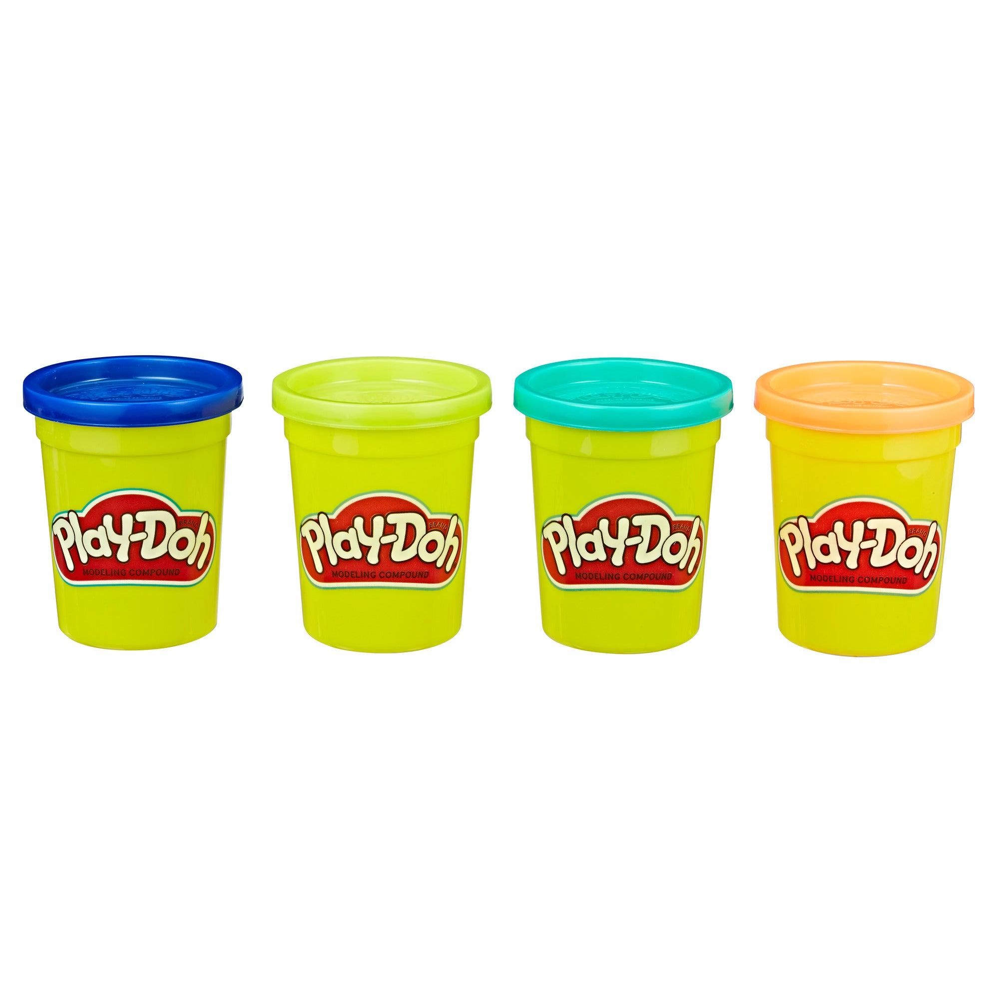 Play Doh 4 4oz Play-Doh 4-Pack of 4-Ounce Cans (Wild Colors)
