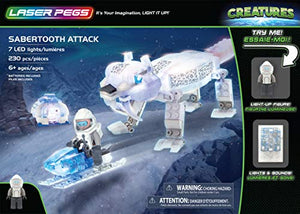 Laser Pegs 240pc Sabertooth Attack 18404