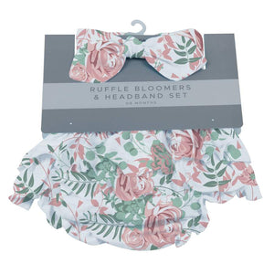 0-6 Months Ruffle Bloomers & Headband Set- Desert Rose by Newcastle Classics