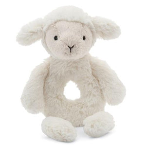 Bashful Lamb Ring Rattle by Jellycat