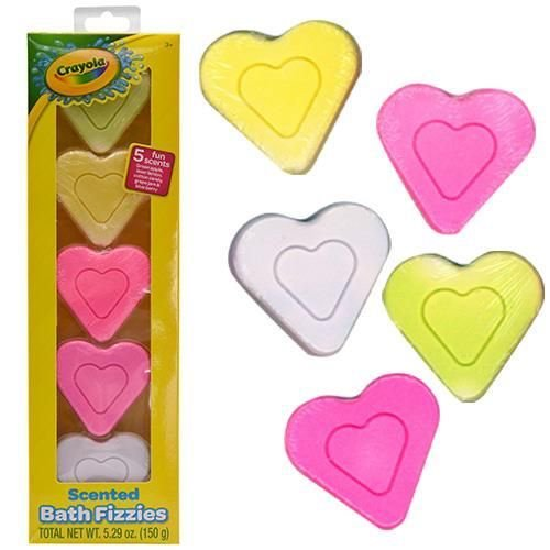 Crayola 5 Pack Heart Shaped Bath Fizzies