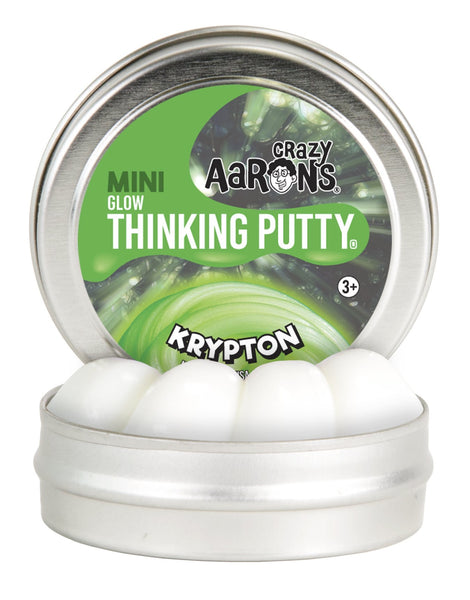 Krypton Glow 2'' Tin Thinking Putty by Crazy Aaron's