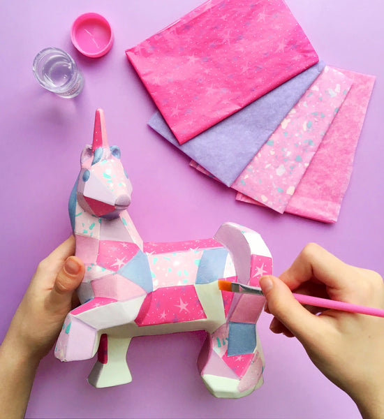 Decoupage Unicorn by Bright Stripes