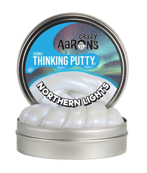 Northern Lights Cosmic Glow 4'' Tin Thinking Putty by Crazy Aaron's