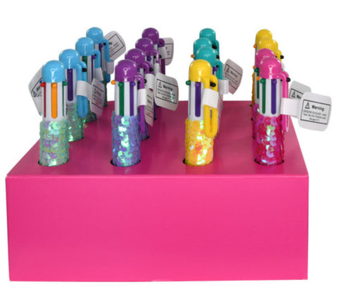 6-Color Sequin Covered Pen Single Assortment