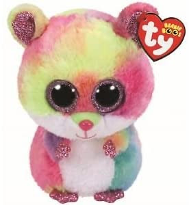 "Rodney Multicolored Hamster Beanie Boo 13"" by TY"