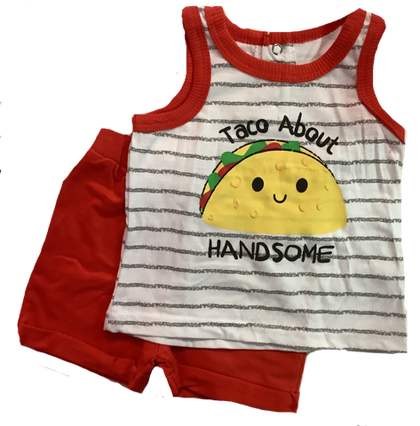 """Taco About Handsome"" Clothing Set"
