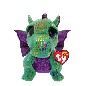 "Cinder Green Dragon Beanie Boo 6"" by TY"