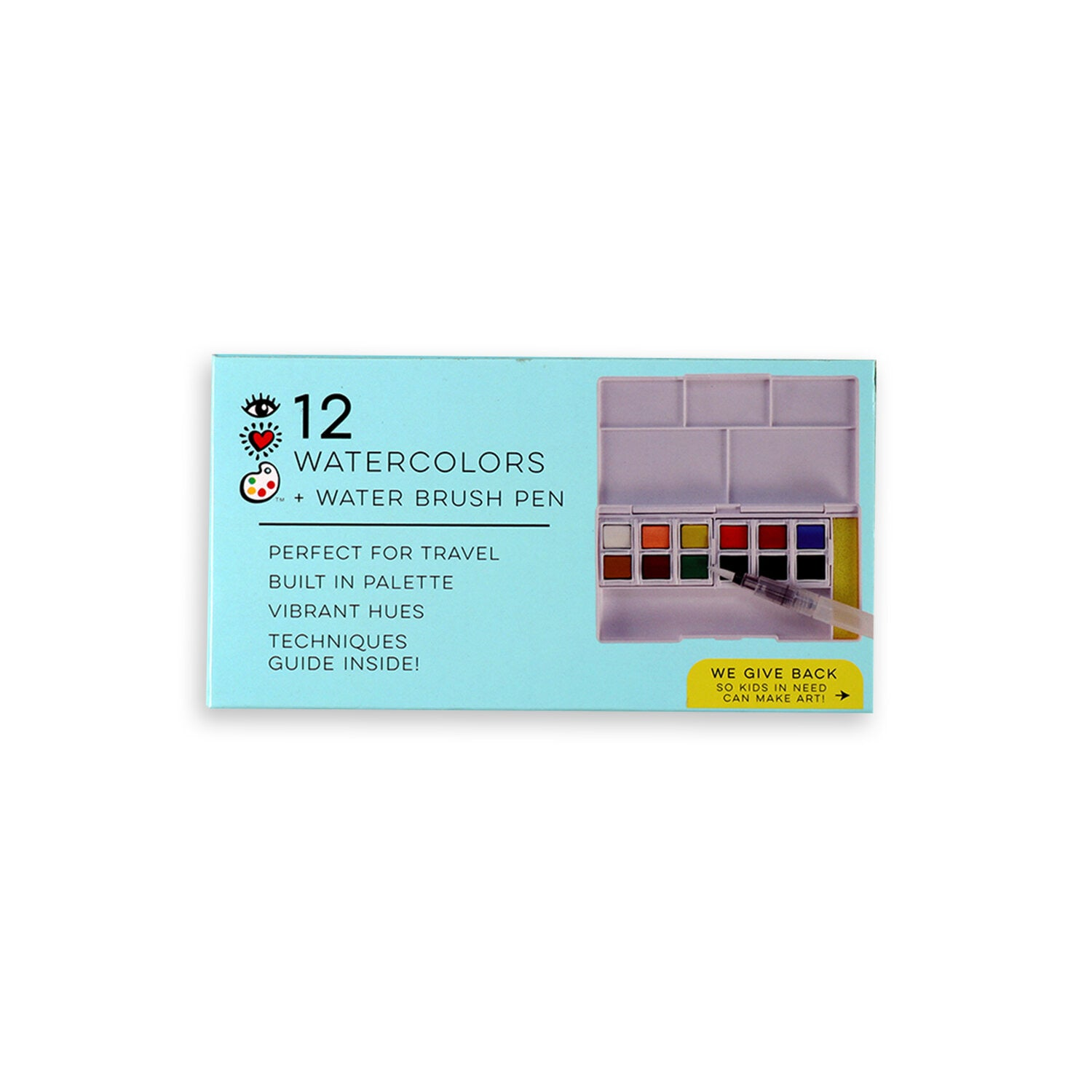 12 Watercolors & Pen by Bright Stripes #2112-12