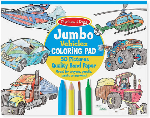 Jumbo Coloring Pad: Vehicles by Melissa & Doug