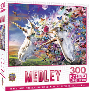 Medley - Unicorns & Butterflies 300pc EzGrip Puzzle by Masterpieces #32033