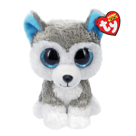 "Slush Grey & White Husky Beanie Boo 6"" by TY"