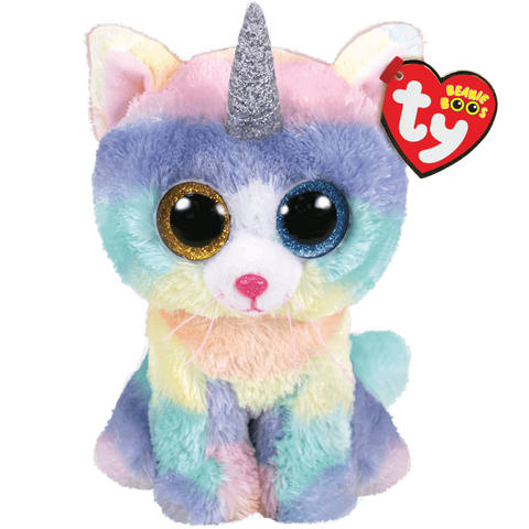 "Heather Unicorn Cat Beanie Boo 6"" by TY"