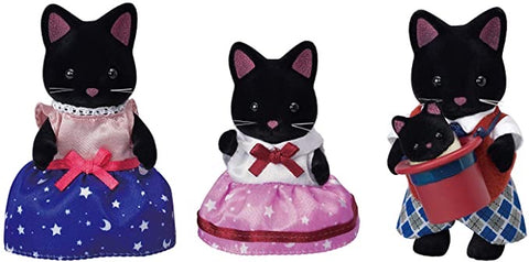 Midnight Cat Family by Calico Critters # CC1939