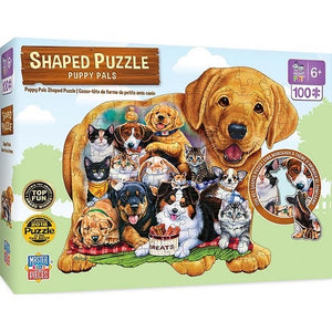 Puppy Pals 100pc Shaped Puzzle by Masterpieces #11926