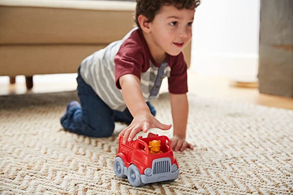 Mini Fire Engine w/ Character by Green Toys