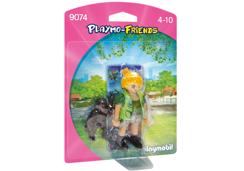 Zookeeper with Baby Gorilla by PLAYMOBIL #9074