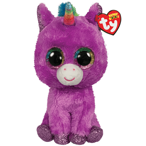 "Rosette Purple Unicorn Beanie Boo 6"" by TY"