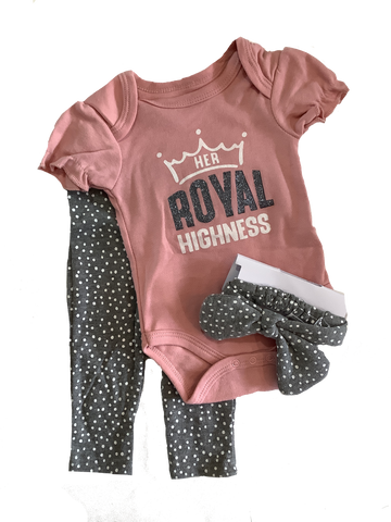3 pc Her Royal Highness Outfit