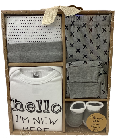 Hello I'm New Here 4 Piece Boxed Gift Set