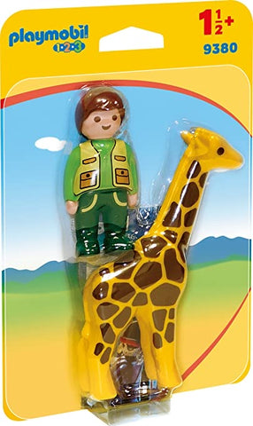Zookeeper with Giraffe by PLAYMOBIL #9380
