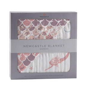 Bamboo Blanket- Mermaid & Scales by Newcastle Classics