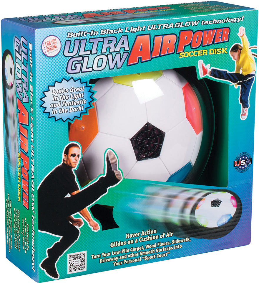 Ultra Glow Air Power Soccer Disk by Toysmith # 52132