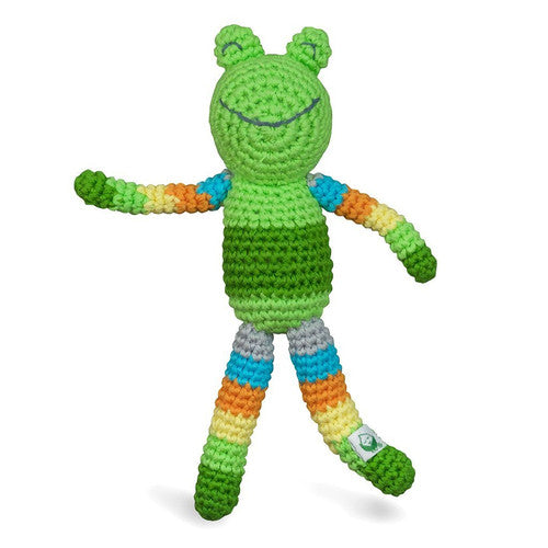 Green Sprouts Animal Rattle Friend Green