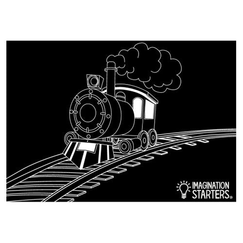 Imagination Starters Chalkboard Placemat Train