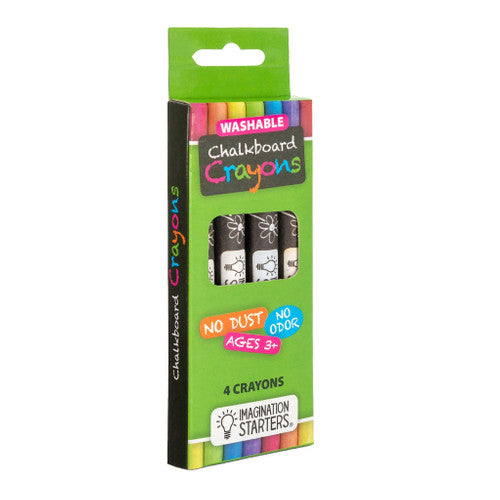 Imagination Starters Washable Chalkboard Crayons 4 pack