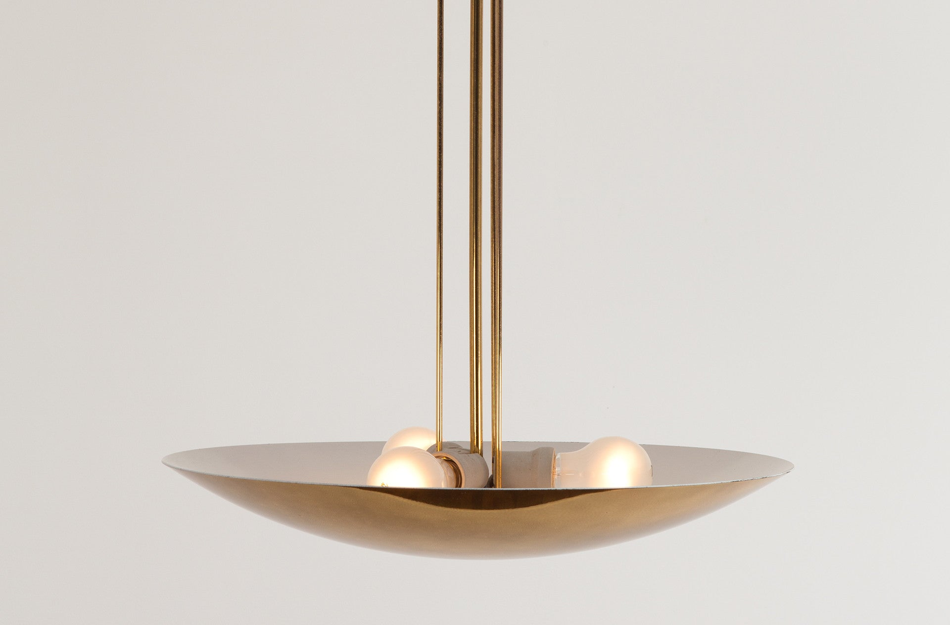 Brass chandelier by Walter Orleth for Kalmar