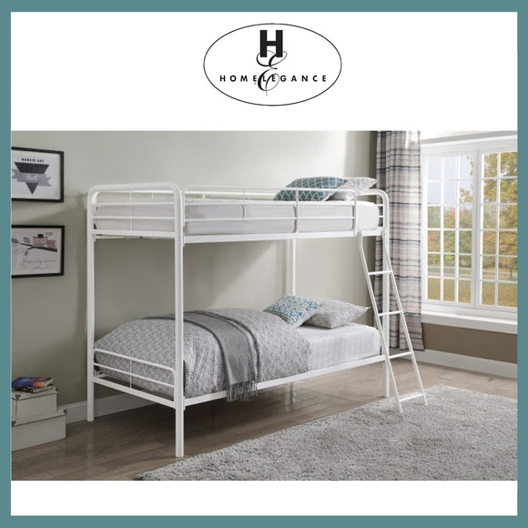 Homelegance Twin over Twin Bunk Bed - White
