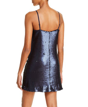 Load image into Gallery viewer, Aqua Women's Blue Sequined Slip Dress