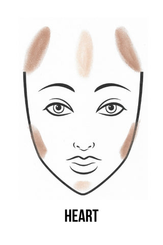 How To Contour A Heart Shaped Face