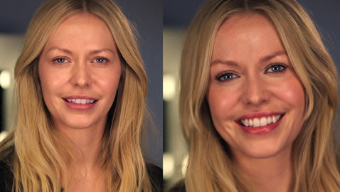 Daniel Sandler 5 minute makeup look before and after
