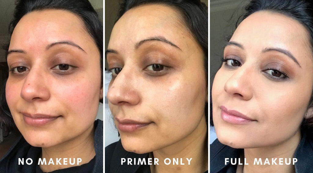 Before And After - Daniel Sandler Anti Redness Foundation Primer