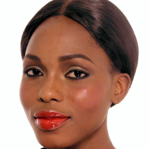Night time look makeup for black skin