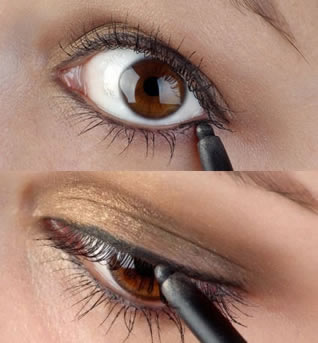 How to apply eyeliner using a waterproof pencil