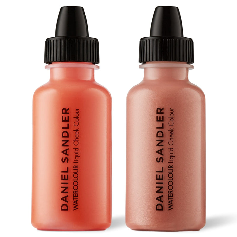 Daniel Sandler Watercolour Liquid Matte Blush & Illuminator Duo - Crush & Rose Glow