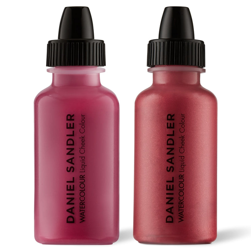 Daniel Sandler Watercolour Liquid Matte Blush & Illuminator Duo - Divine & Tease