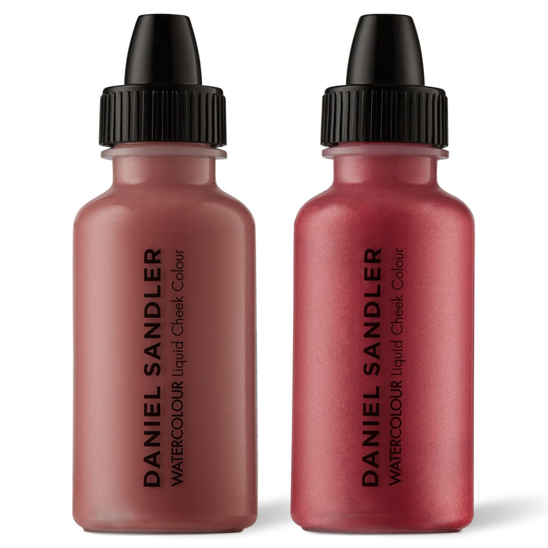 Daniel Sandler Watercolour Liquid Matte Blush & Illuminator Duo - Glamour & Tease