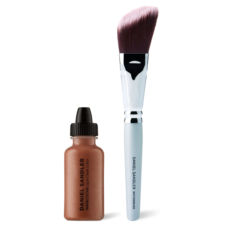 Daniel Sandler Watercolour Liquid Cheek Colour & Waterbrush Duo - Golden Glow