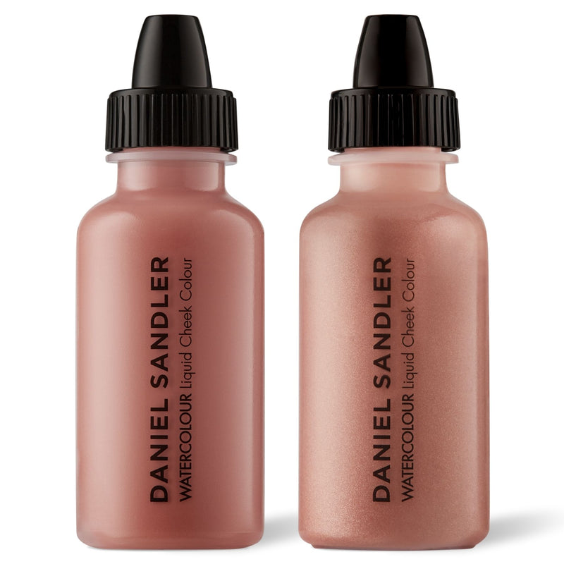 Daniel Sandler Watercolour Liquid Matte Blush & Illuminator Duo - Caress & Elegance