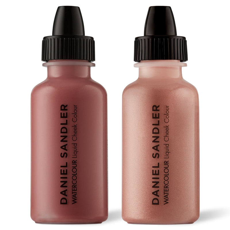 Daniel Sandler Watercolour Liquid Matte Blush & Illuminator Duo - Glamour & Elegance