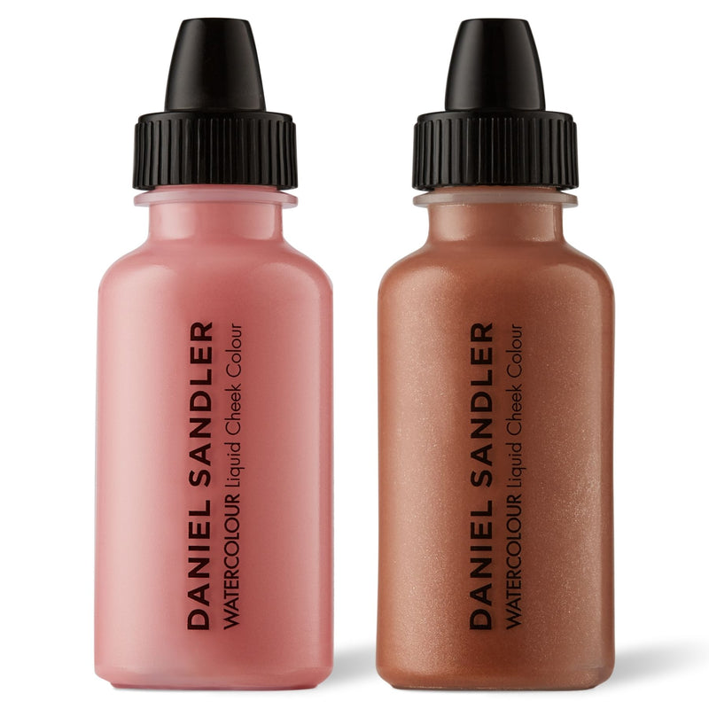 Daniel Sandler Watercolour Liquid Matte Blush & Illuminator Duo - Cherub & Golden Glow