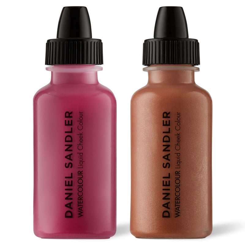 Daniel Sandler Watercolour Liquid Matte Blush & Illuminator Duo - Divine & Golden Glow