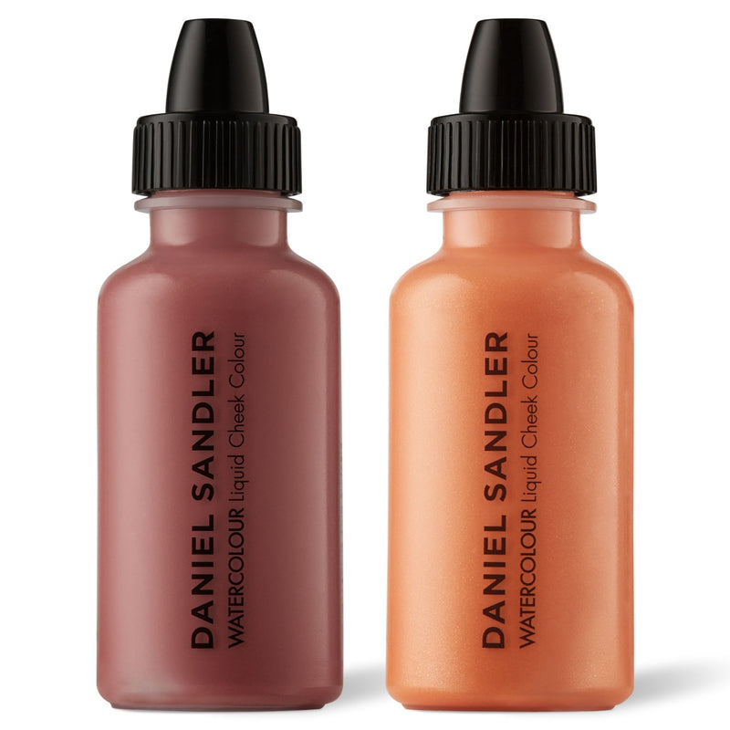 Daniel Sandler Watercolour Liquid Matte Blush & Illuminator Duo - Glamour & Grace