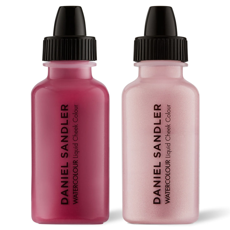 Daniel Sandler Watercolour Liquid Matte Blush & Illuminator Duo - Divine & Icing