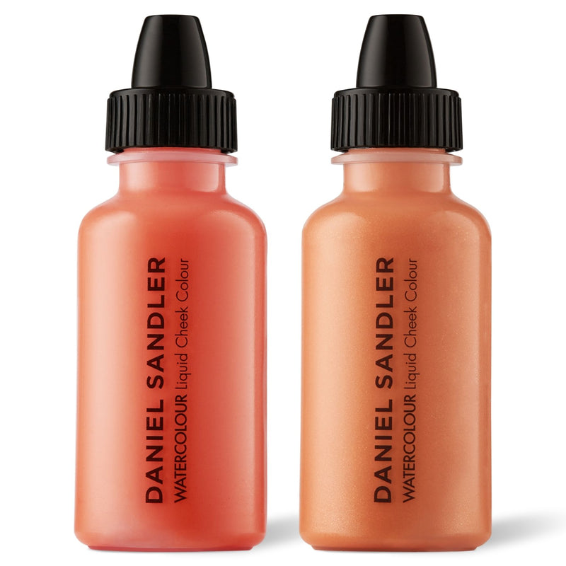 Daniel Sandler Watercolour Liquid Matte Blush & Illuminator Duo - Crush & Grace